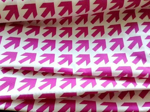 Another great print listed!! Orchid Pink Arrows Laminated Canvas from Jessica at #oilclothaddict, $24.00