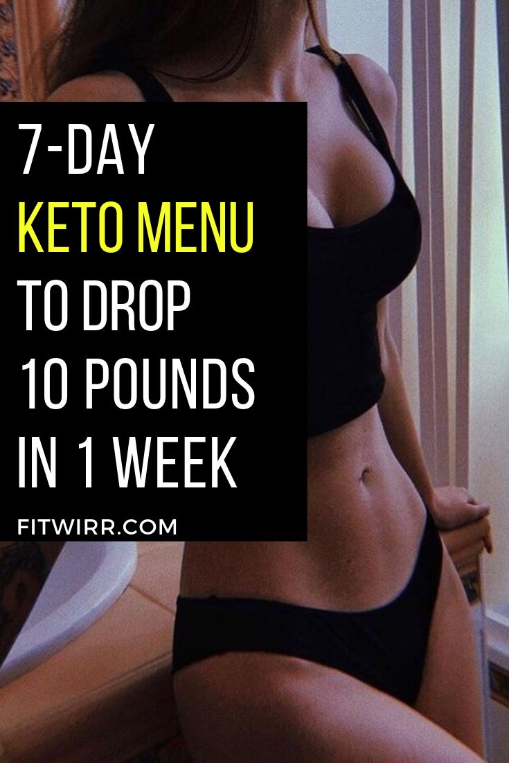 7-day keto menu to drop 10 pounds in 1 week eating a high-fat, low-carb diet and...