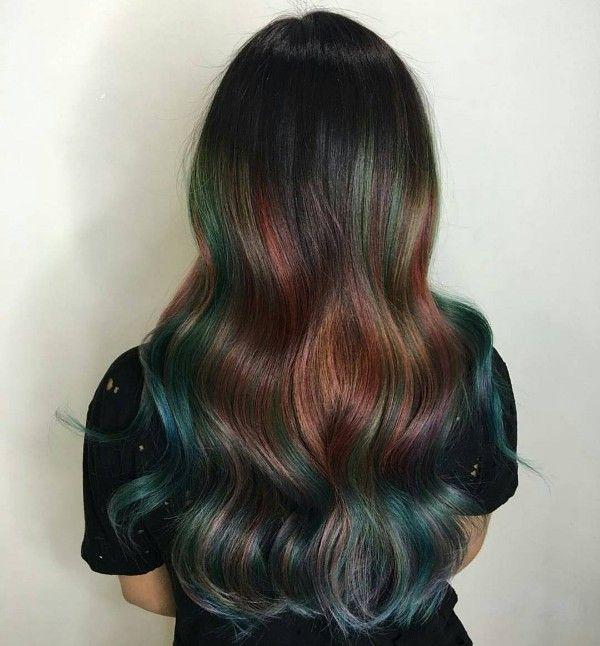 black blue and purple hair