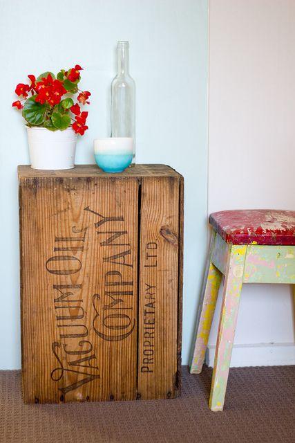 Vintage Wood Crates: Upcycled & Repurposed