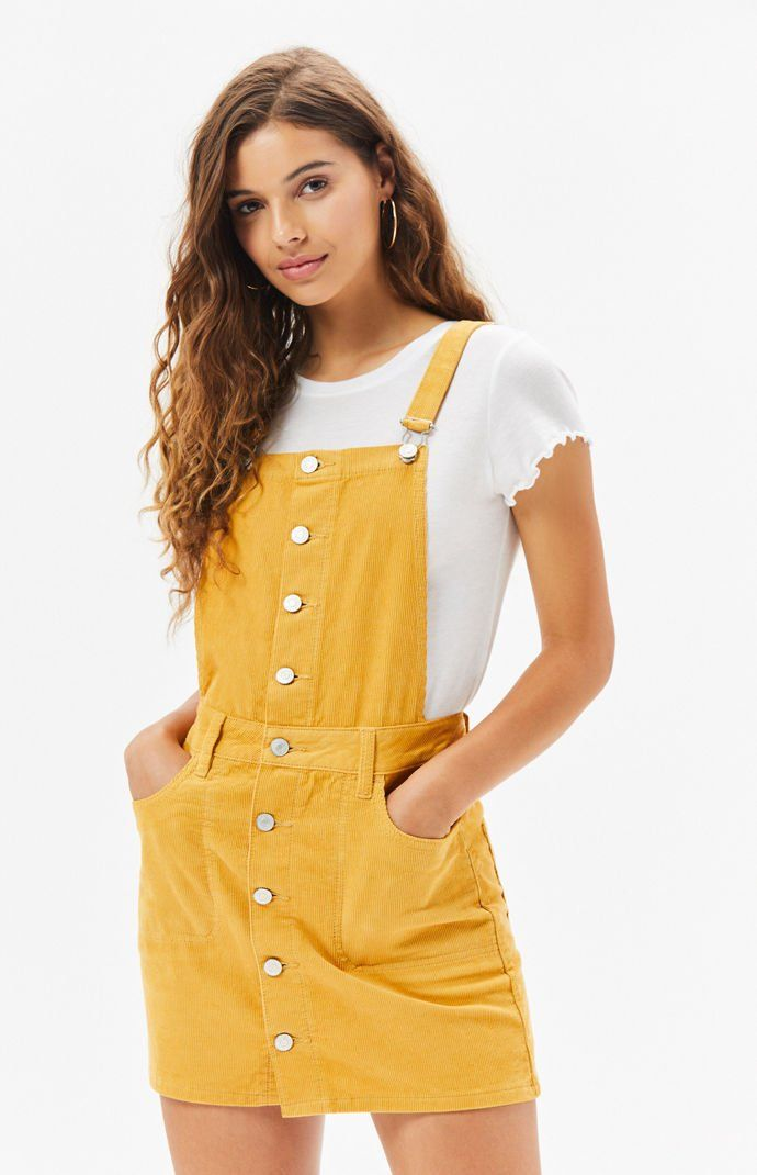 3ac0b4095e910 Button Front Corduroy Dress | PacSun ...