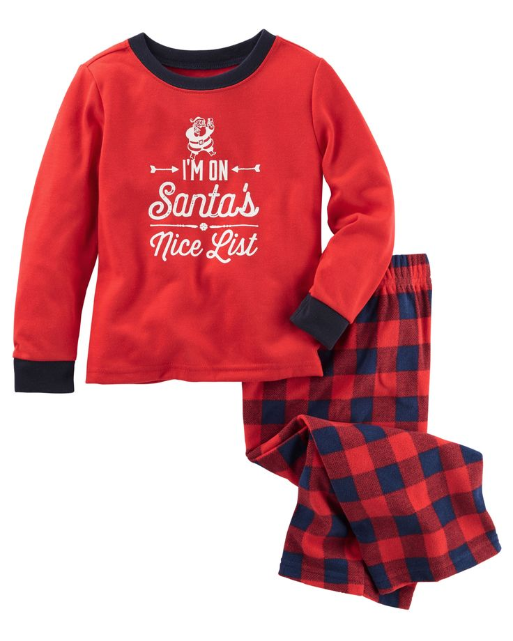 Pyjama 2 pièces en jersey et en molleton