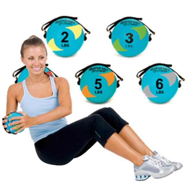 Aeromat Power Yoga Pilates Weight Ball       www.BeBodySmart.com