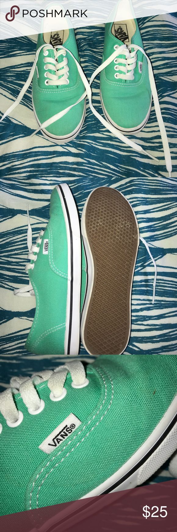 teal vans IN GREAT CONDITION ONY WORN A FEW TIMES!!!! teal vans size 6.5 Vans Shoes Sneakers