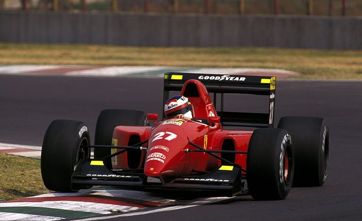 itsawheelthing: Ferrari Friday … using the kerbs … & then someJean Alesi, Ferrari F92A, 1992 Mexican Grand Prix, Mexico City