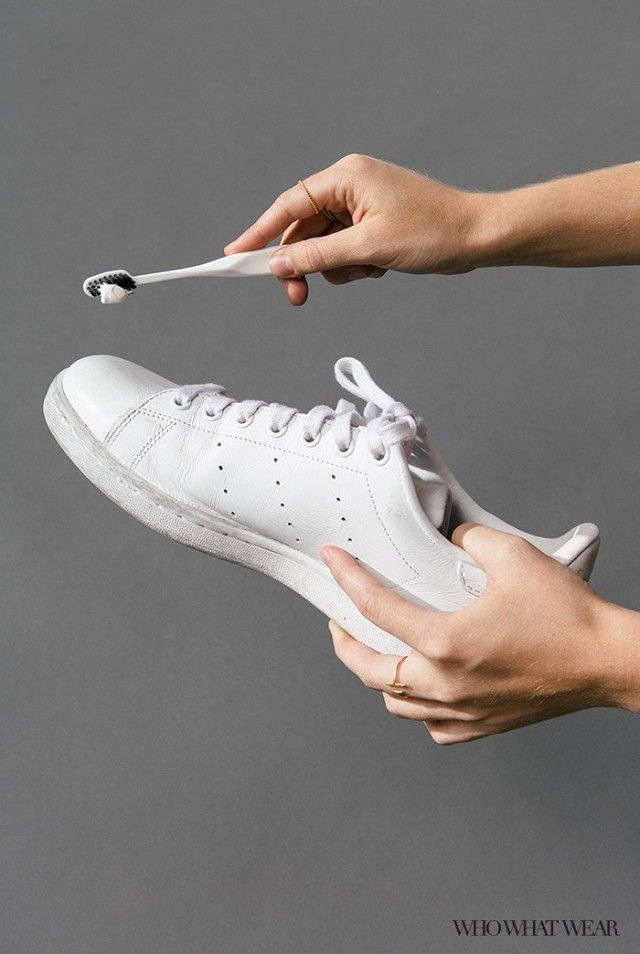 We've found the best ways to clean your favorite white sneakers and you're going to thank us.   One way? Toothpaste