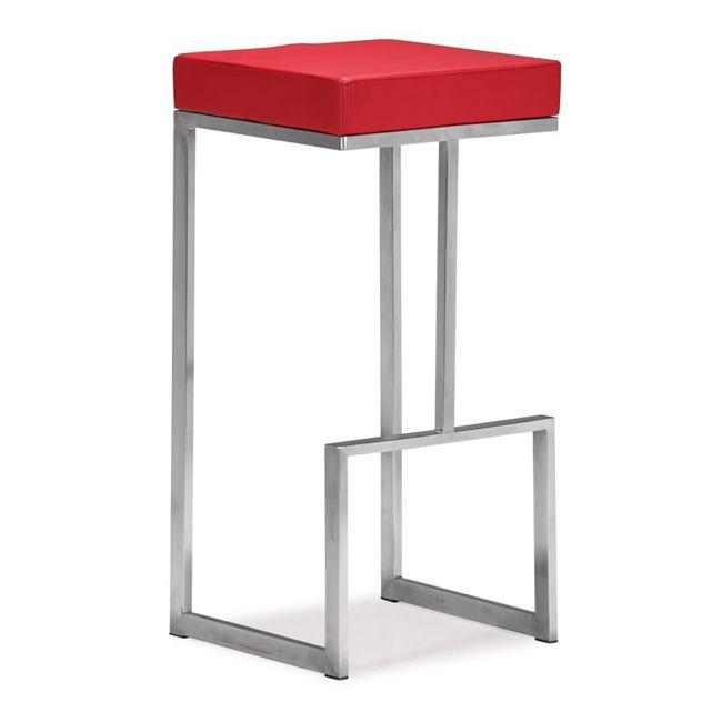 Zuo Darwen Red Bar Chairs Set Of 2 Chair