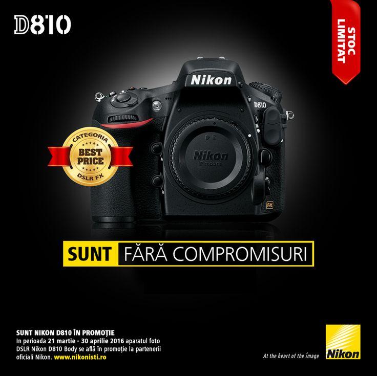 In perioada 21 martie - 30 aprilie 2016 aparatul foto DSLR Nikon D810 se afla in promotie la partenerii oficiali Nikon.
