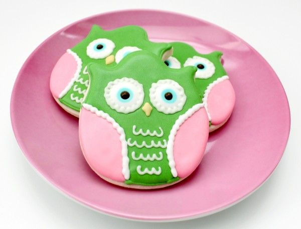 Owl Cookies-They used a tulip cookie cutter.