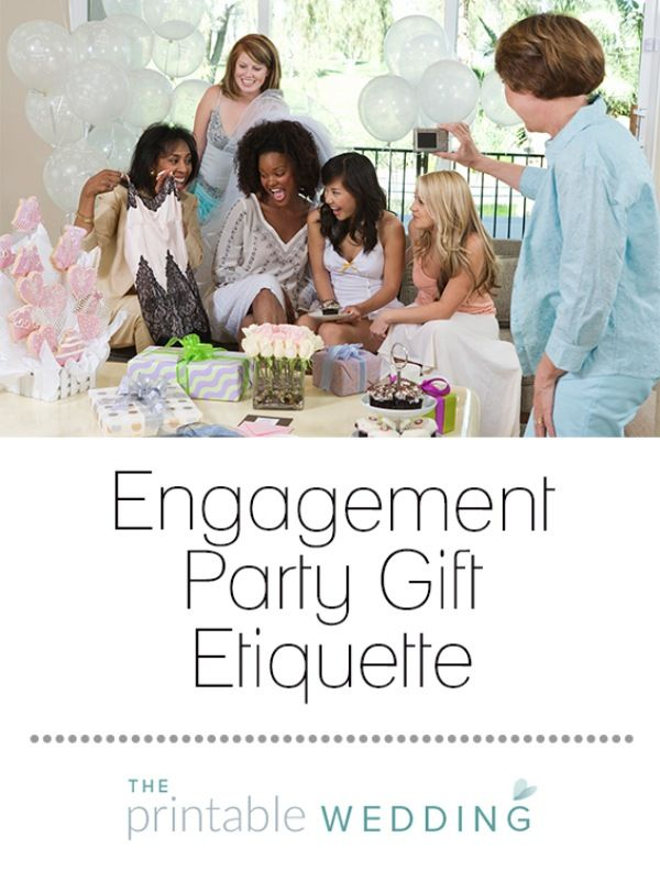 "Traditionally, gifts are not expected at an engagement party; bridal showers are the usual gift-giving event. However, many guests will want to give gifts anyway, so it's a good idea to register as soon as you can. Spread news of your register through word of mouth rather than in a note with your wedding announcement or engagement party invitation. If you want to let people off the hook, you can write ""No gifts"" on your engagement party invitation. Some people will still give you gifts, but…"