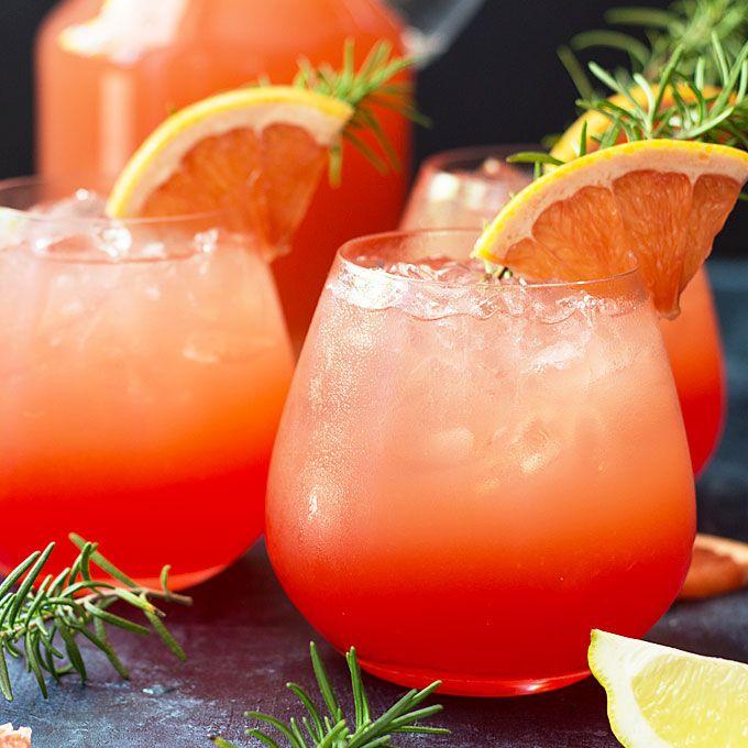 A sweet and tart grapefruit cocktail with vodka, ruby red grapefruit juice, orange liqueur, lemon juice and grenadine. So refreshing!