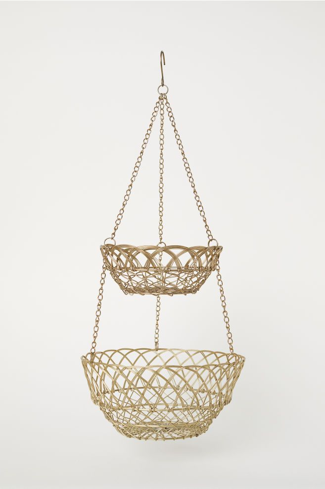 Hanging Wire Basket Goruntuler Ile Tel Sepet Sepetler Altin