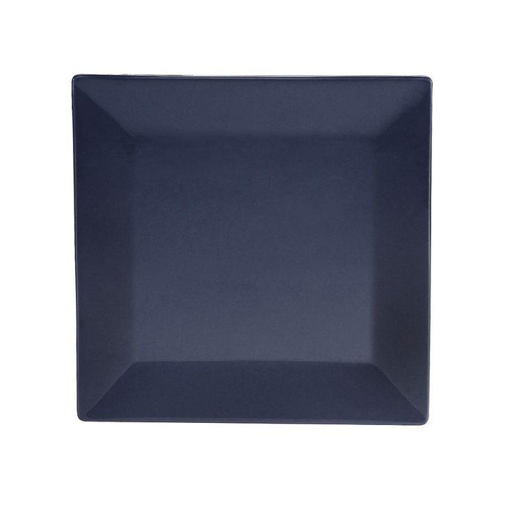"""CAC KC-16-CBU 10"""" Square Color Arts Dinner Plate - Ceramic, Cobalt Blue"""