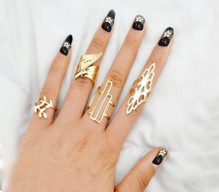 geo rings, hipster rings, gold hipster ring set, gold boho ring set, gold rings,gold modern rings