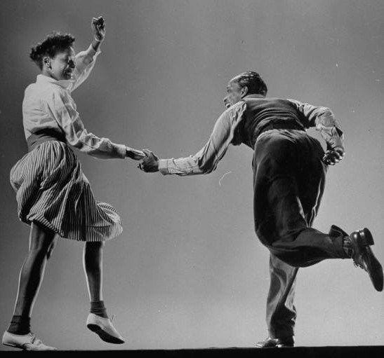 Original swing dancers Willa Mae Ricker & Leon James, dance