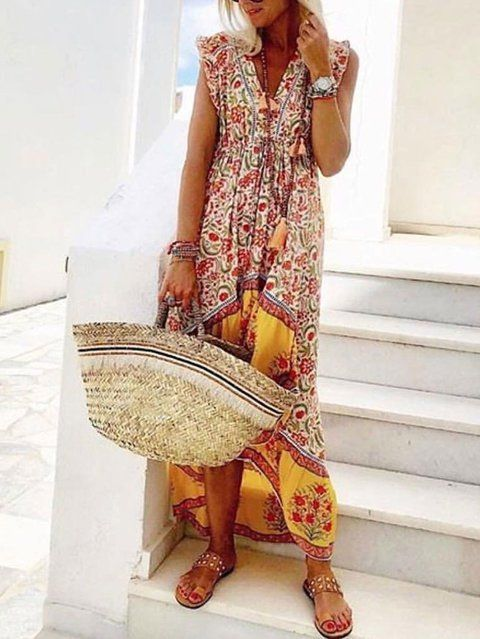 886c91c592395 Buy Boho Dresses Summer Dresses For Women at JustFashionNow. Online  Shopping Justfashionnow Shirt Dress Boho Dresses Holiday Shift V Neck Short  Sleeve ...