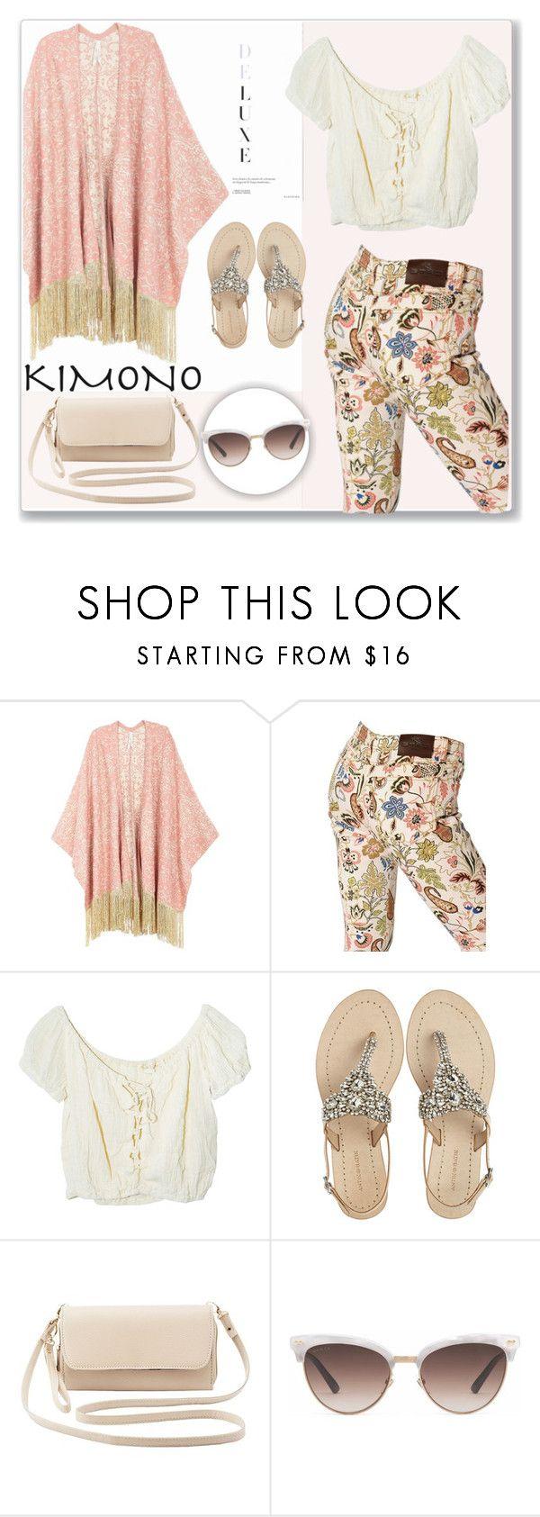 """Kimono Cool"" by sherri40 ❤ liked on Polyvore featuring Melissa McCarthy Seven7, Etro, Jens Pirate Booty, Antik Batik, Charlotte Russe, Gucci, kimonos and plus size clothing"