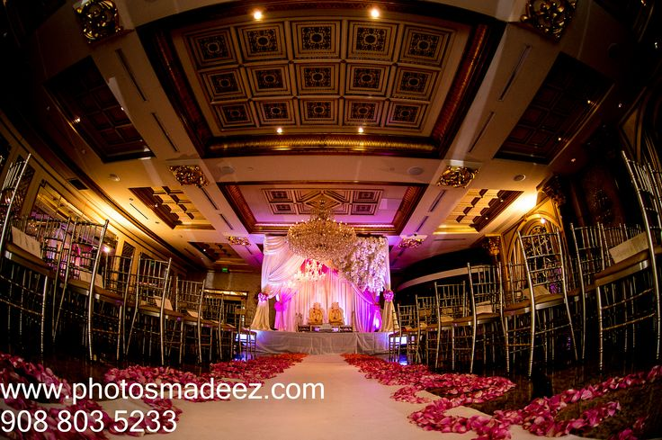 wedding ceremony decor at the ve ian nj   indian wedding