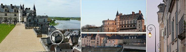 Loire Valley tours and accommodation in front of the chateau Amboise