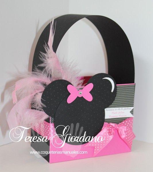 Caja para dulces de Minnie  www.coqueteriasmanuales.com