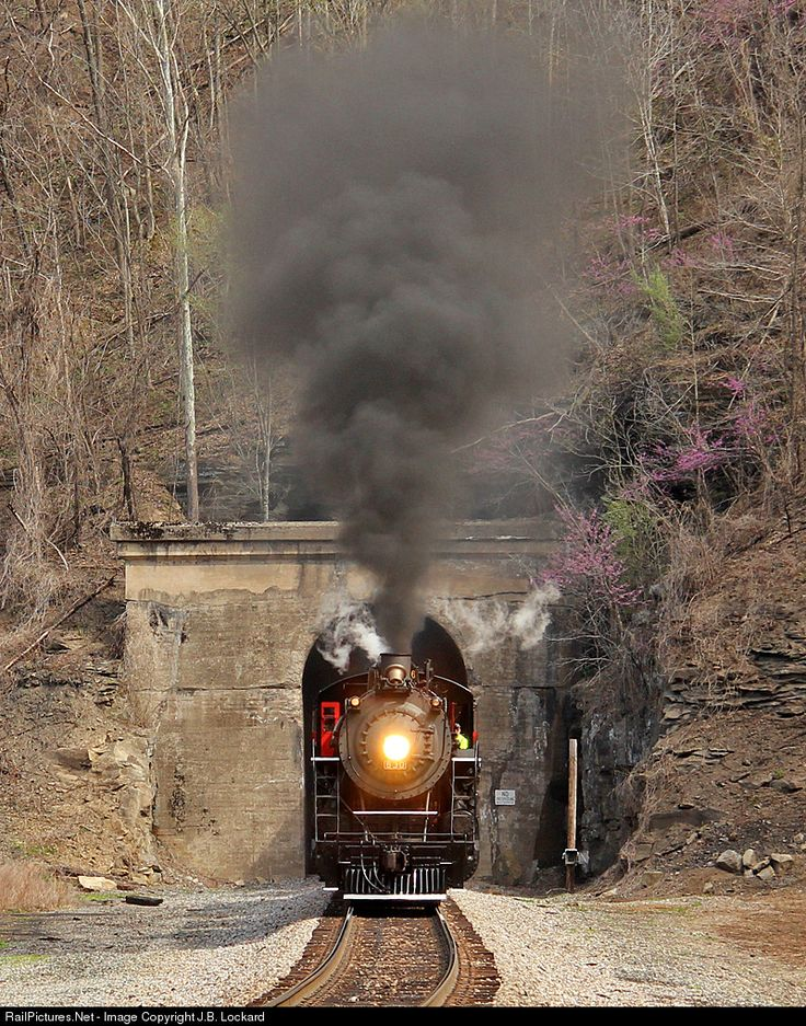 The Tri-County Mountaineer steam special exits Devon Tunnel for the return trip to Grundy VA. With a portal date of 1930, the tunnel serves as a vital connection for the Buchanan Branch to the Pokey main.
