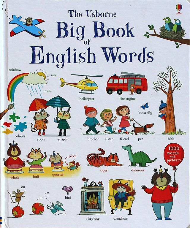 Big Book of Words by Usborne:  Price: $49.99 & FREE Worldwide Shipping.  Visit us and see our 300+ catalog.  We sell toys, materials and costumes with a learning purpose.  Your kids will thank you later!