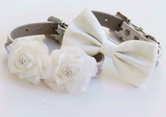 These white wedding collars.
