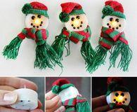 DIY Snowman LED Candles