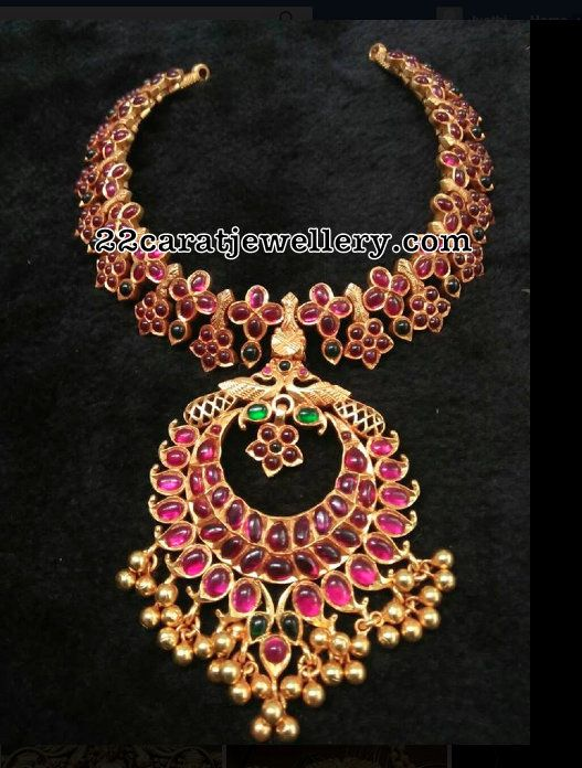 Ruby Floral Necklace in Silver - Jewellery Designs