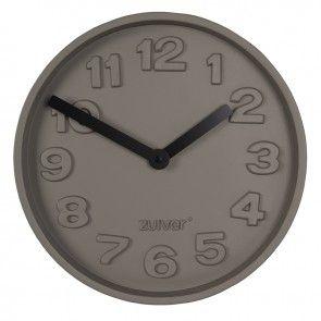 Concrete Time klok Zuiver zwart   Musthaves verzendt gratis