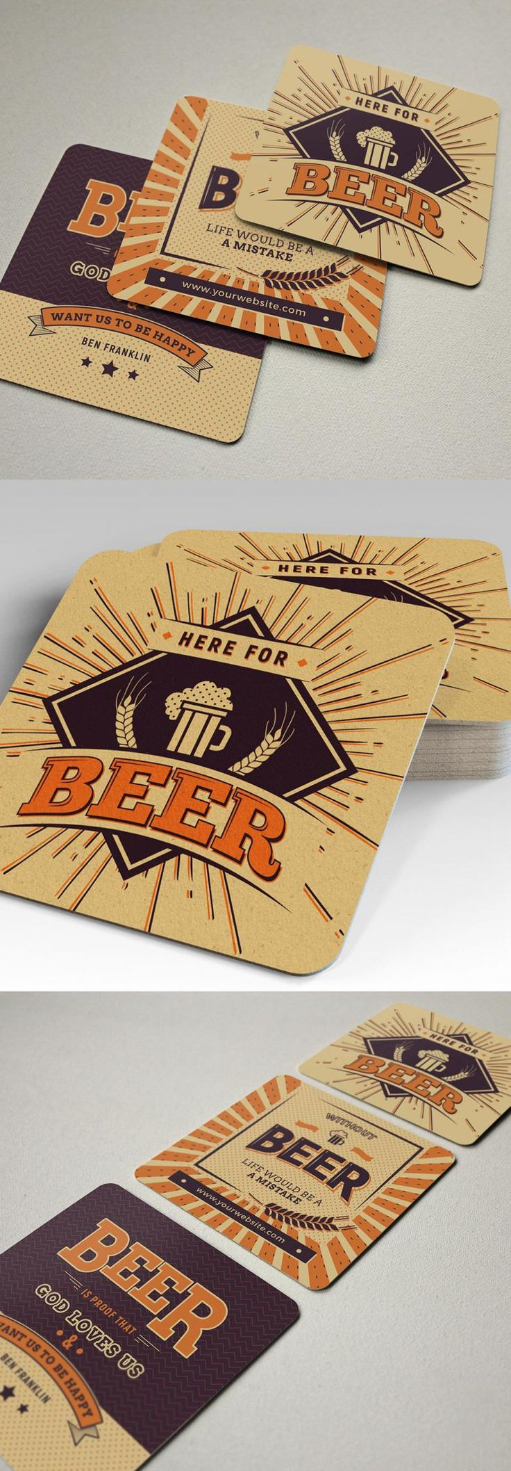 3 Free Beer Coaster Templates