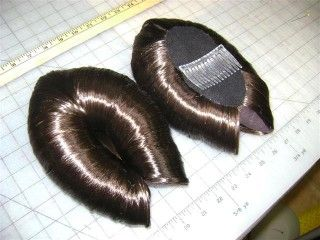 Queen Amidala Headpiece and Wig | Recent commission. Padme Amadala hair pieces. Color #6, attached via ...