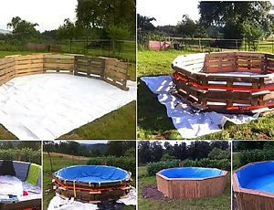 Make an Amazing Swimming Pool From Just 10 Old Pallets And $80