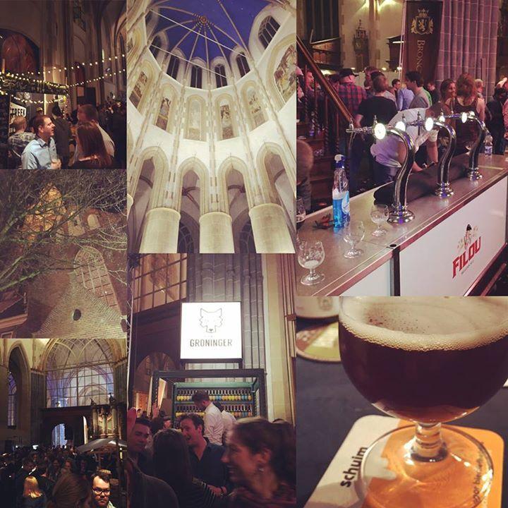 Schuim magazine @ Bierfestival Groningen in de Martinikerk. En God zag dat het goed was.  #bfgm16 #schuimmag