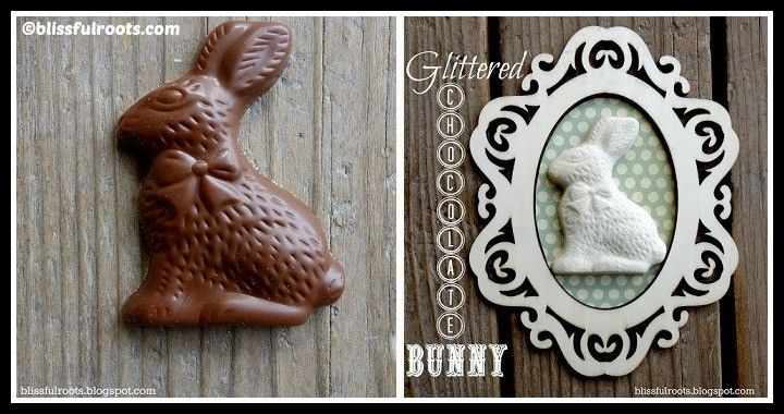 DIY Glittered Chocolate Bunnies Tutorial