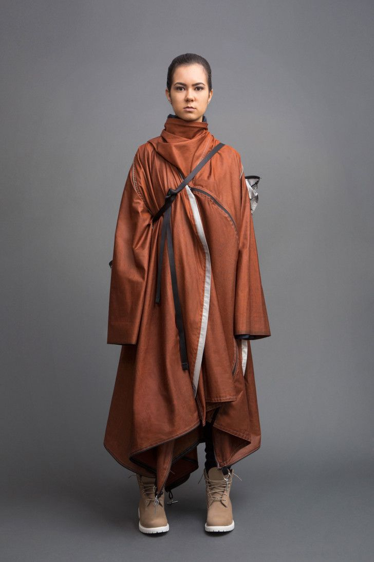 Coat that becomes a tent. Parsons School of Design, Angela Luna, Adiff, Design for Difference