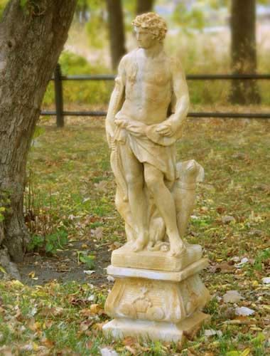 Apollo Of The Hunt With Dog Garden Statue Available In Ten Outdoor Friendly  Finishes. For