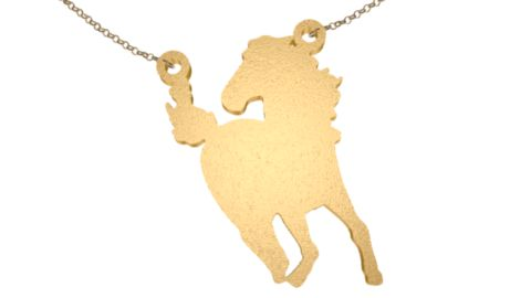 Horse 3D printed jewelry necklace from Zazzy