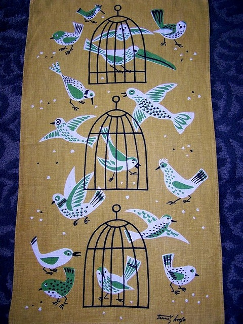 Tammis Keefe - Birds Tea Towel