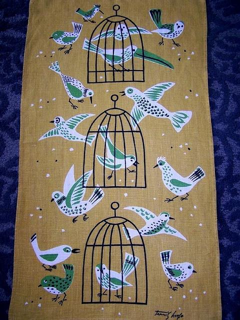 Tammis Keefe - Birds Tea Towel