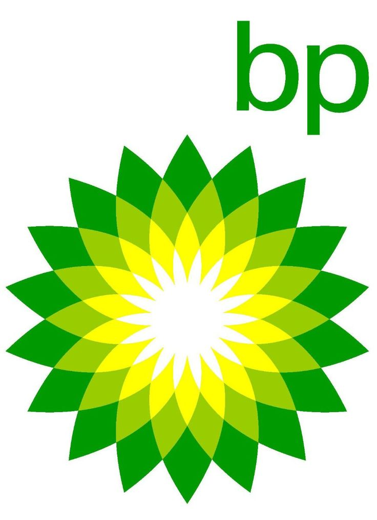 This is the British Petroleum logo used since 2000. This logo symbolises energy in various forms by using specific colours such ss green and yellow. The shape is of 'Helios' meaning the Greek god of sun.