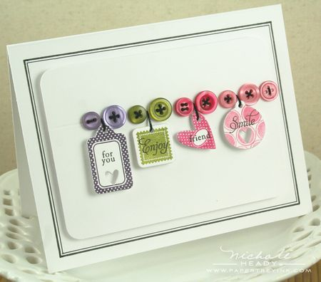 Love those buttons and the tiny tags!
