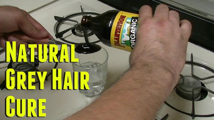 DIY : How to Get Rid of Grey Hair Naturally Gray Hair Cure for men and w...