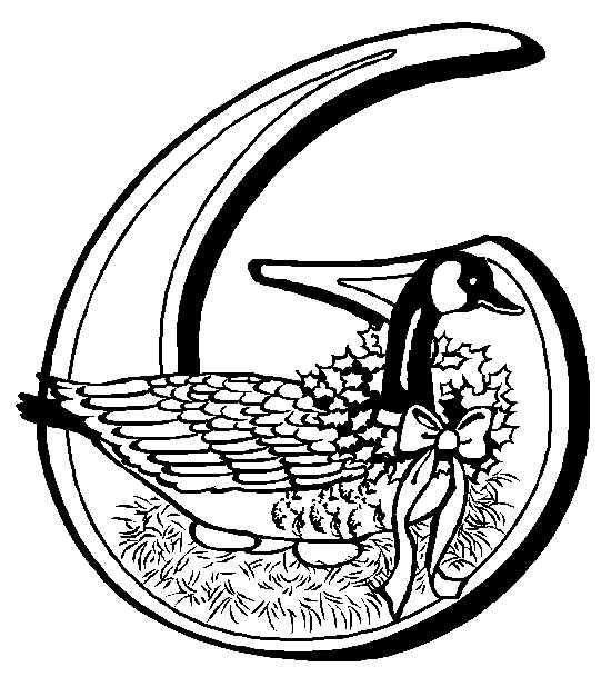 06 geese coloring page