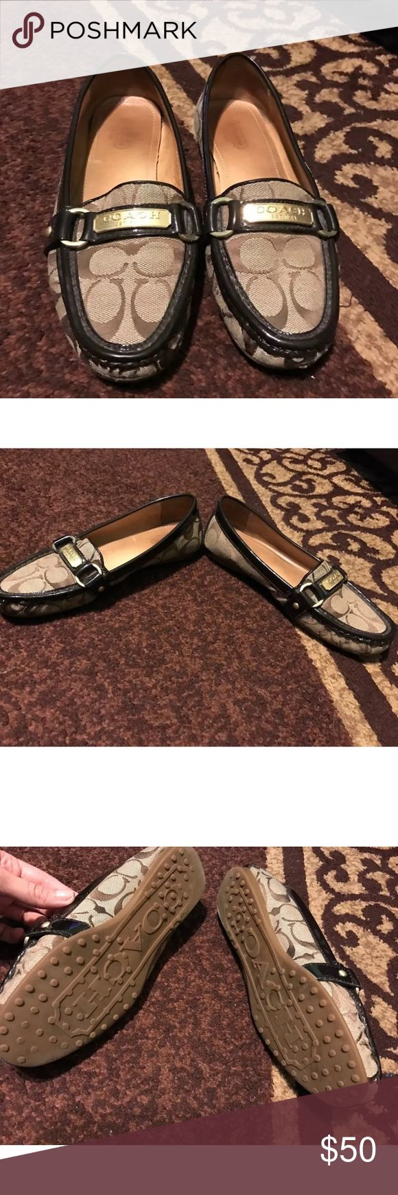 ♦️FINAL PRICE♦️ coach flats Preowned coach flats in great condition 😊 Coach Shoes Flats & Loafers