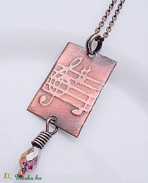 Violin kulcsos, kottás nyaklánc, Ékszer, óra, Nyaklánc, Meska