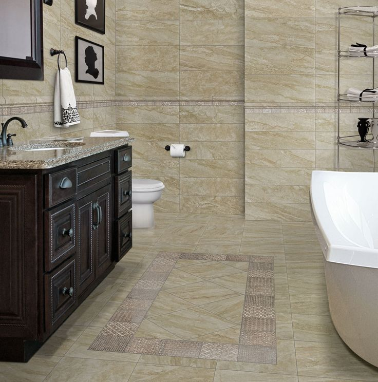 This Is The Mingle Soft Rock From Florida Tile Using 12x24 On Walls And 12x12 Floor Installed Floors Pinterest Porcelain