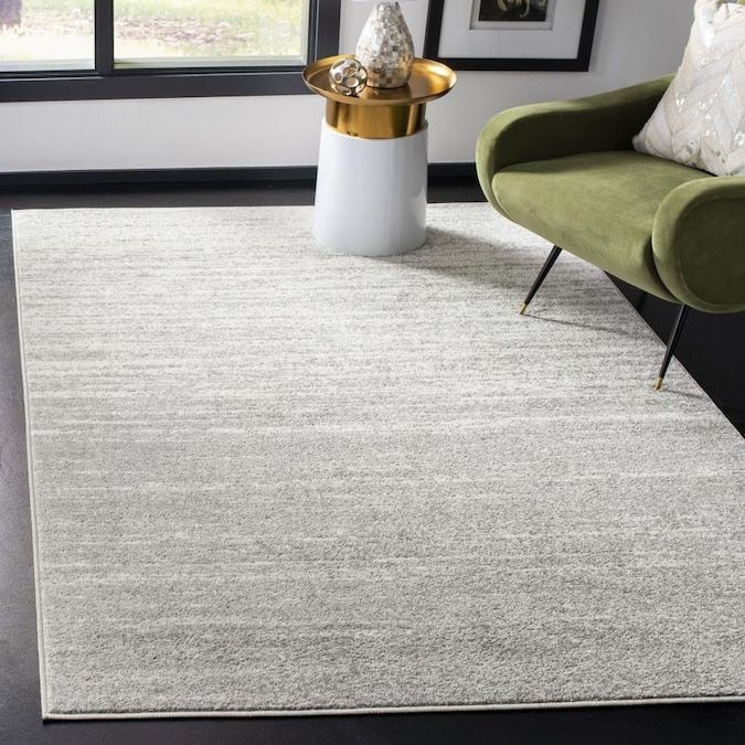 Safavieh Adirondack Sasha 10 X 10 Light Graygray Square Indoor Ombre Industrial Area Rug In 2020 Grey Rugs Faded Area Rugs Distressed Rugs