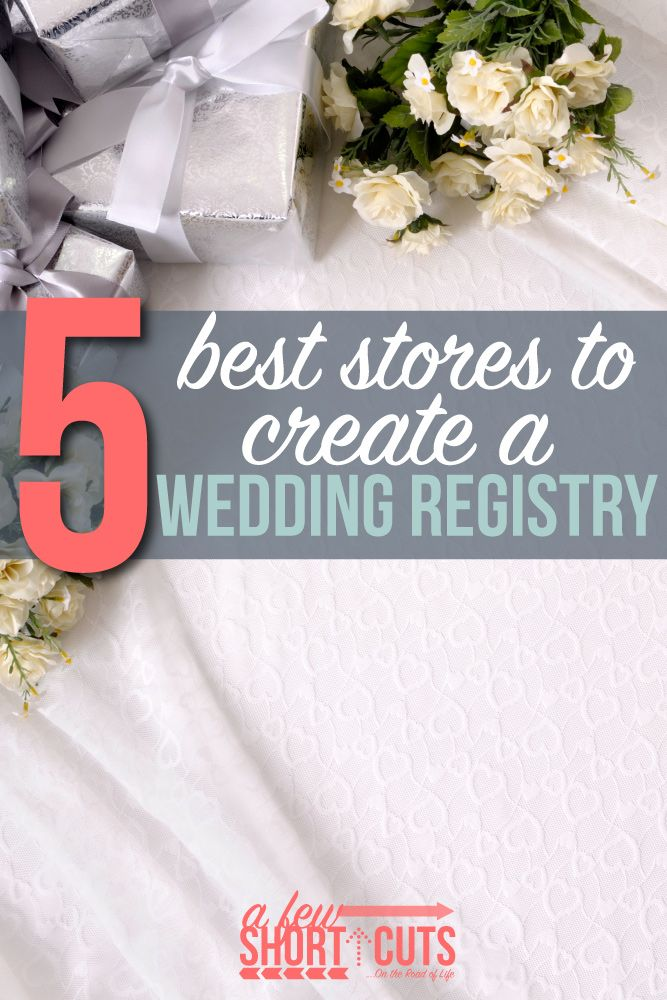 5 best stores to create a wedding registry