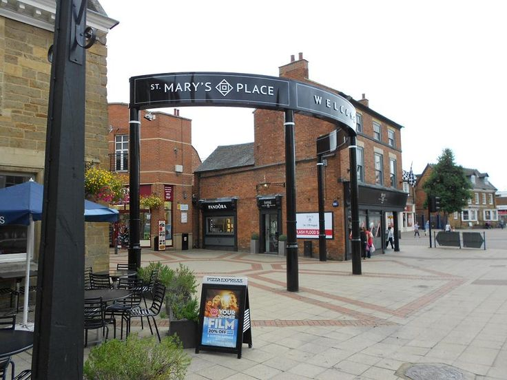 The new signage went up in 2013 for St Mary's Place - Market Harborough